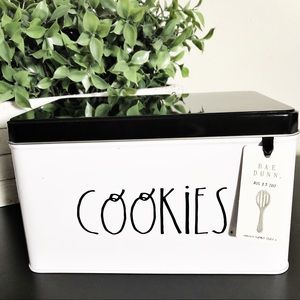 New Rae Dunn COOKIES Kitchen Collection Tin Can